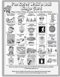 6-3392 Walk 'n Roll Bingo Single Use Game Pads Front
