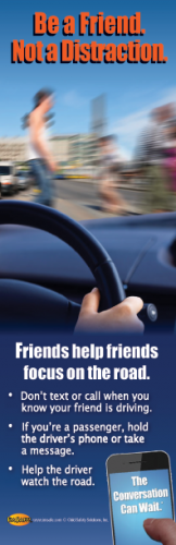 """3-6028 """"Friends Help Friends Focus on the Road"""" Bookmark"""