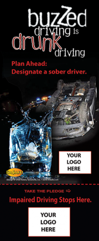 3-8000 Buzzed Driving Info-Pledge Card - NHTSA messaging