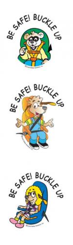 2-4240 Be Safe! Buckle Up Tattoos