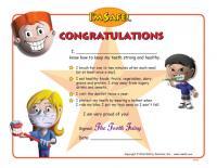 11-5295 Dental Health Award Certificate - English