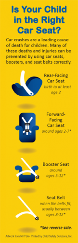 """FL2-3025 """"Is Your Child in the Right Car Seat?"""" Florida Bookmark"""