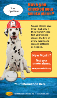 """Have you Checked Your Smoke Alarm"" Screen Cleaner"