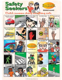 10-4640 Xtreme Traffic Safety Bingo Game for Pre-Teens