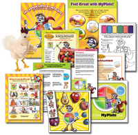 11-4000 MyPlate Nutrition Classroom Teaching Kit for Head Start