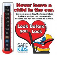 2-5108 Safe Kids Heatstroke Thermometer Cling - RF Car Seat