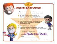 11-5294 Dental Health Award Certificate - Spanish