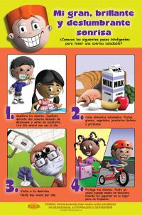 "1-5292SP Dental Health Poster: ""My Big, Bright Sparkly Smile"" - Spanish"