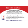 3-7014 Friends - Seat Belt Palm Card - Back