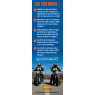 3-9001 Motorcycle Safety Bookmark - Reverse Side
