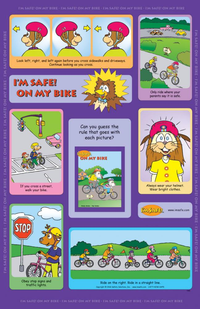1 1060 I M Safe On My Bike Poster English I M Safe