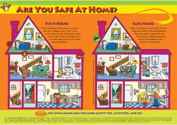 5 1710 are you safe at home poster english i 39 m safe for My home pictures for kids