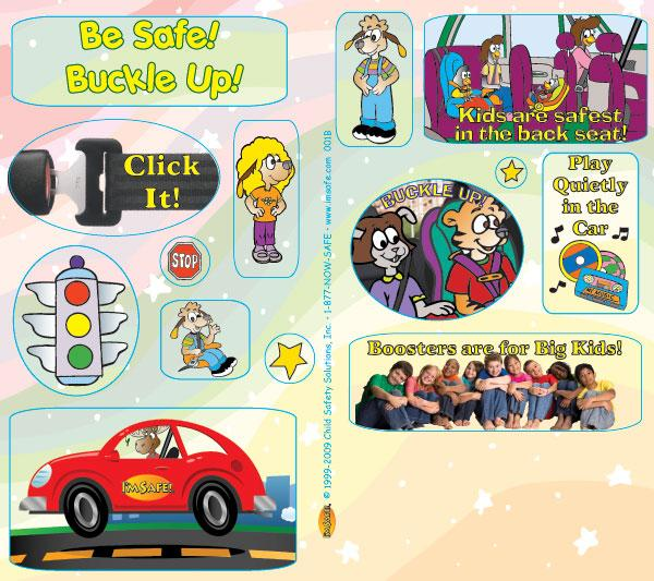 2 0010 car safety sticker sheets