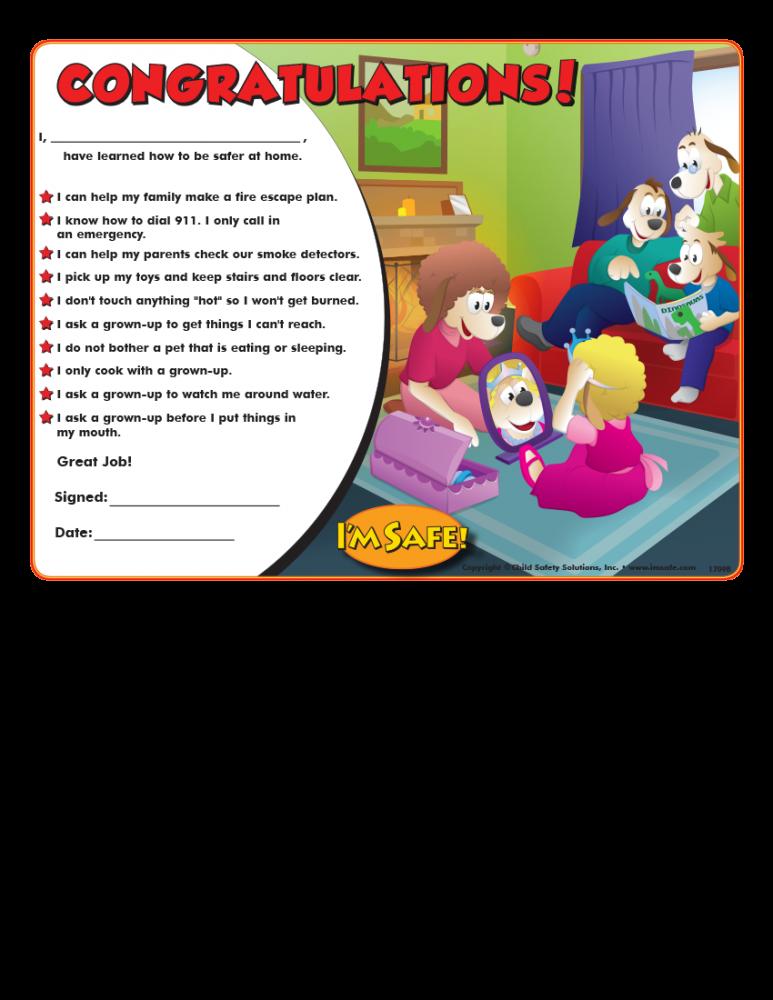 5 1709 home safety award certificate i m safe