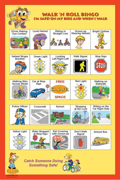 6 4500 I M Safe Walk N Roll Oversized Bingo Game I M Safe