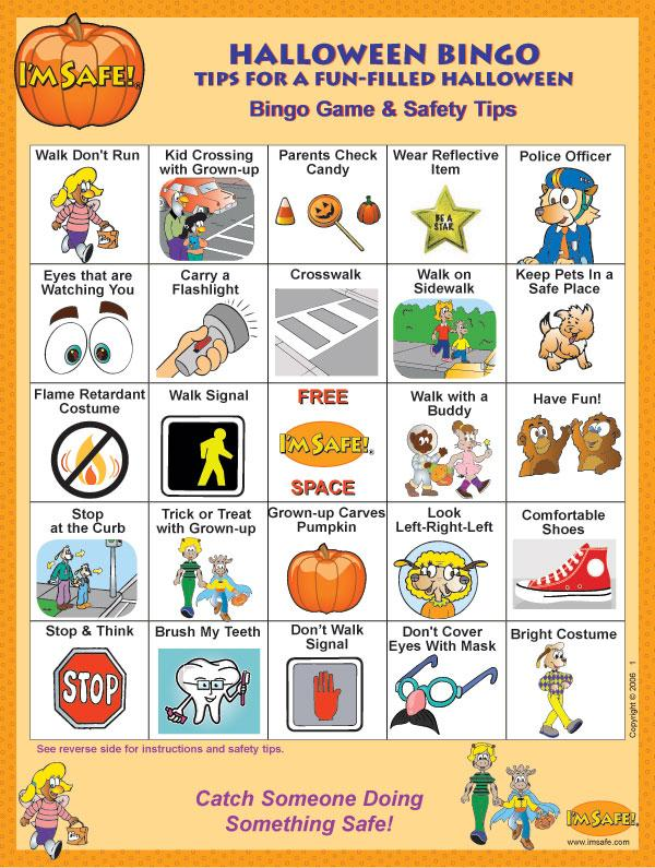 6-4790 I'm Safe! on Halloween Bingo Game - English | I'm Safe