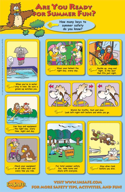 7-3300 Are You Ready for Summer Fun? Poster - English | I'm Safe