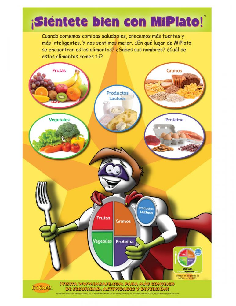 11 4011 my plate healthy eating nutrition poster spanish i m safe