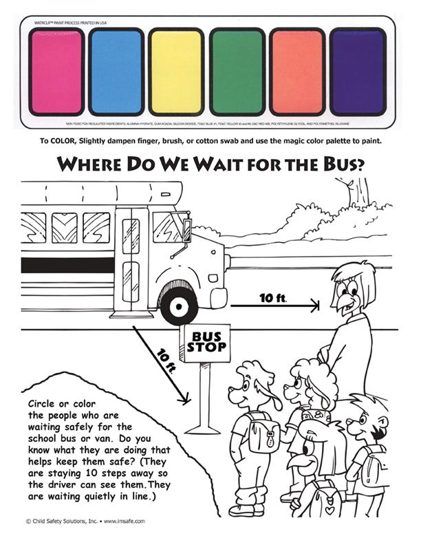 6 1845 Trans Kit School Bus Safety Paint Sheet