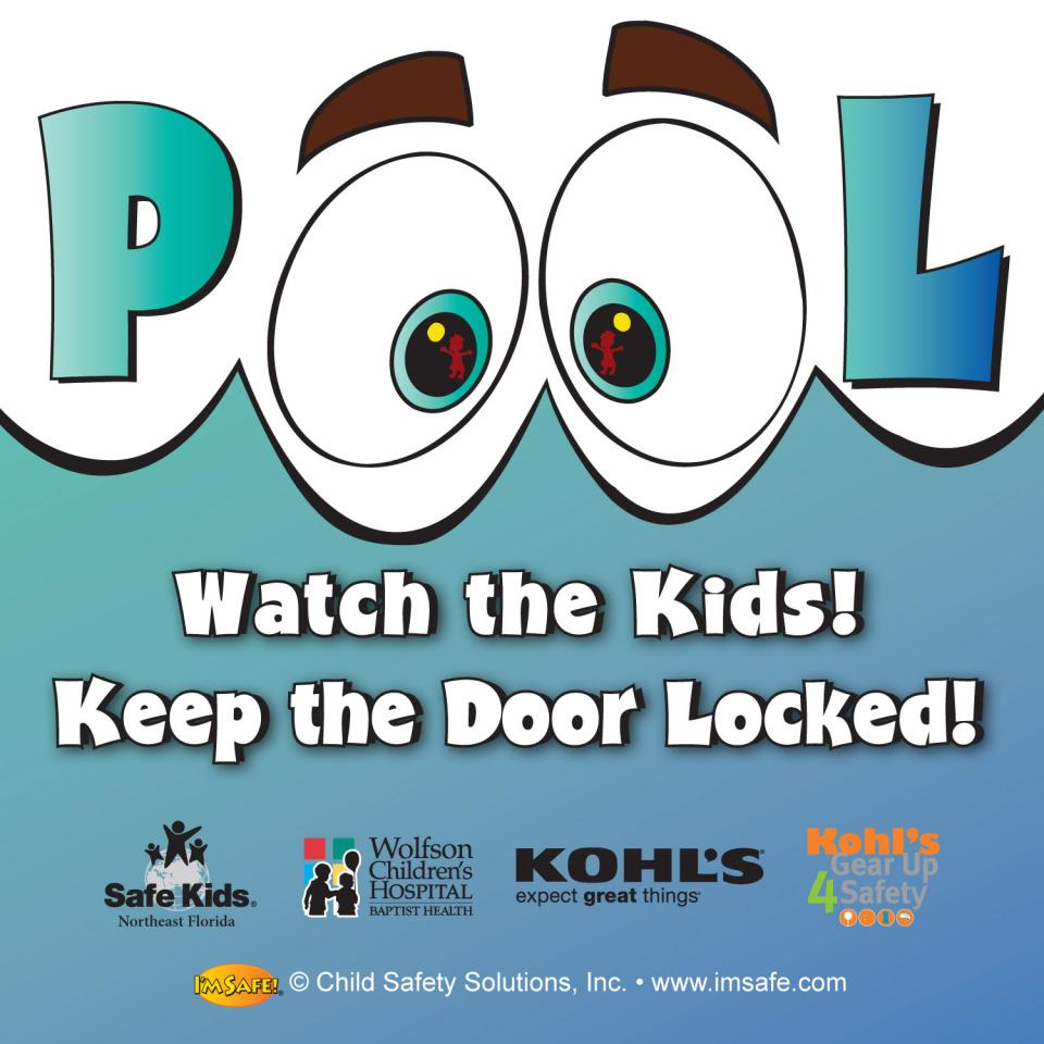 Water safety pool window cling i m safe