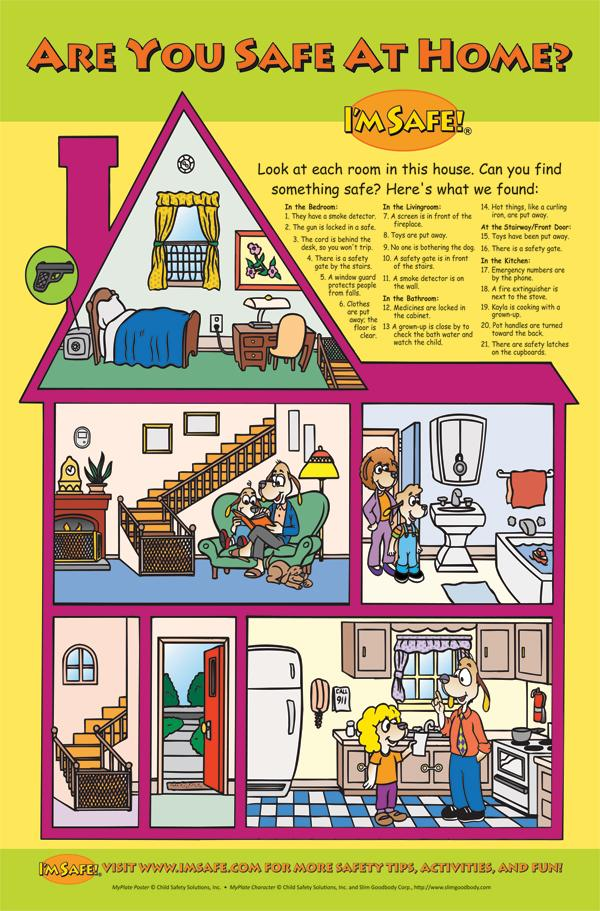 5 2100 are you safe at home classroom poster i 39 m safe for Safety around the house