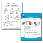 Helmet Activity Coloring Page & Checklist