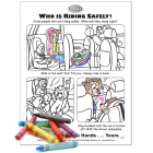 Car Safety Activity Page: Who is Riding Safely?