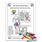 Poison Prevention Activity Page for children and parents
