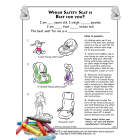 Activity Sheet: Which Safety Seat is Right for You? - English