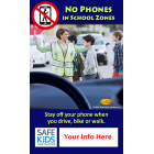 Safe Kids - 'No Phones in School Zones' Meme - Customizable