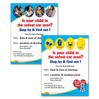 Car Seat Checkup Announcement Posters - Your Choice