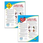 11 Steps to Safer Walking & Riding Parent Tip Sheet