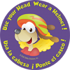 1-1090B-2 Use Your Head! Wear Your Helmet Stickers - Bilingual