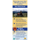 10-3347 How to Stay Safe on ATVs Banner Display - English