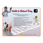 10-4652 Walk to School Award Certificate Grades 3-6  - English