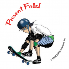 10-4730 Prevent Falls Sticker - English