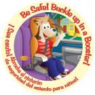 Bilingual High Back Booster Sticker