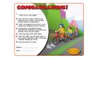 1-1110 I'm Safe! on Wheels Award Certificate - English