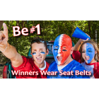 FL3-7017 Winners Wear Seat Belts - Florida Palm Card