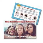13-1009 Defeat COVID-19 Social Distancing Palm Card