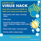 13-1026 Virus Hack Magnetic Sign