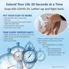 13-1020 20 Seconds Handwashing COVID-19 Tabletop Display