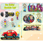 2-0010 Car Safety Sticker Sheets