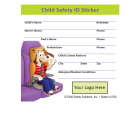 2-1097 Custom Child Safety ID Sticker