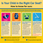 "2-3602 ""Is Your Child in the Right Car Seat?"" Tabletop Display"
