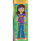2-3891 Bilingual Life Size Height Chart Display - Sofia