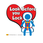 2-5104  Look Before You Lock Window Cling
