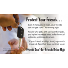 "3-4242 ""Friends don't let friends drive high"" Palm Card"