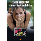 3-6036 Friends Don't Let Friends Text and Drive Poster - English