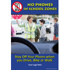 3-6216 No Phones In School Zones Poster